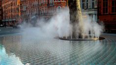 'Silence', a new water feature designed by the Japanese architect philosopher Tadao Ando Mount Street/Carlos Place, Mayfair, London Tadao Ando, Landscape And Urbanism, Landscape Design, Poket Park, Water Sculpture, Water Playground, Water Effect, Pond Water Features, Best Architects