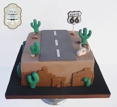Tarta Ruta 66. Route 66 cake. #miraquetarta