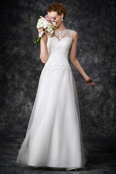 Wedding gown by Kenneth Winston Gallery.