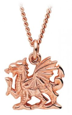 Rose Gold Dragon Pendant.