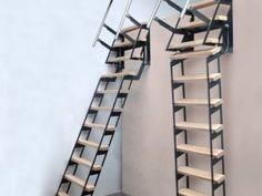ZIP UP - Verschuifbare trapladder Home Stairs Design, Home Interior Design, House Design, Portable Ladder, Ship Ladder, Steel Stairs, House Stairs, Wine Cellar, Stairways