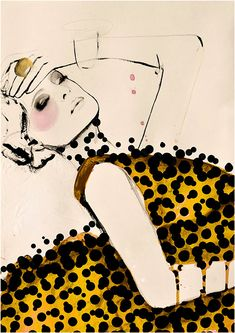 Mode-Illustration von LeighViner auf Etsy