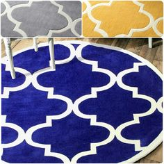 nuLOOM Handmade Luna Moroccan Trellis Round Rug (8' Round) - Overstock™ Shopping - Great Deals on Nuloom Round/Oval/Square