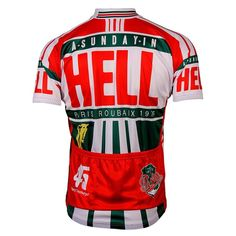 Retro Paris Roubaix Sunday in Hell Cycling Jersey-Online Cycling Gear #cyclefitness