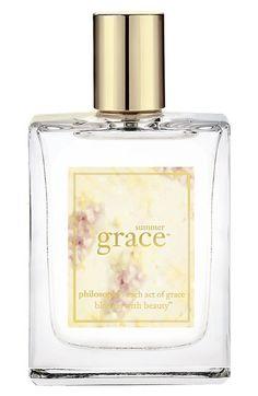 Philosophy 'Summer Grace' fragrance [2oz: $44 / 4oz: $64] - A warm, bright floral fragrance of bergamot, passion flower and warm coconut musk.