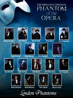 Why is Ramin Karimloo not in front of Michael Crawford?!?! BLASPHEMY. <<< Because it's going in chronological order.