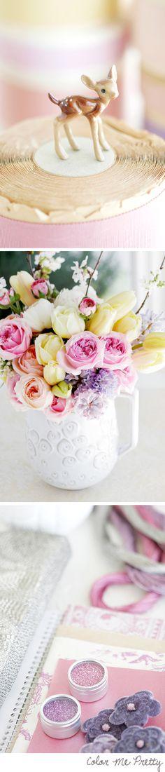 spring pastels & soft craft paper brown & milky whites via decor8