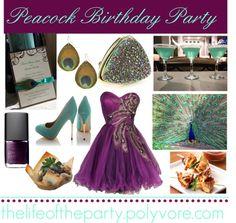 Peacock Birthday Party