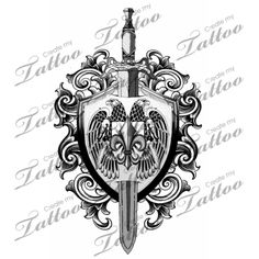Sword+and+Shield+Tattoo | Sword And Shield Sheild Draft Idea Createmytattoocom