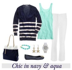 Chic in navy & aqua by Coastal Style Blog
