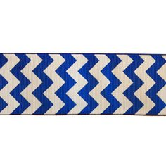 "1.5"" Chevron Pattern on Electric Blue Ribbon by the yard"