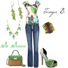 go green, created by tanya-bernard on Polyvore
