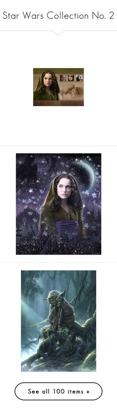 """""""Star Wars Collection No. 2"""" by ameve ❤ liked on Polyvore featuring starwars, natalie portman, star wars, backgrounds, pictures, people, home, home decor, wall art and art"""