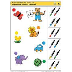Logico Primo feladatkártyák - Festék, olló, építőkocka - . kép Educational Games For Kids, Preschool Learning Activities, Preschool Printables, Brain Activities, Sequencing Cards, File Folder Activities, Activity Sheets, Learning Through Play, Fine Motor