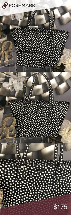 Kate Spade Small Dally Laurel Way Dot Tote Bag Kate Spade Small Dally Laurel Way Polka Dot Printed Tote Bag  BRAND NEW... NWT!!!   Material: Saffiano textured  Print: musical dot  Color: Black and White  *Matching Wallets Sold Separately in My Close Bundle for Discount kate spade Bags Totes