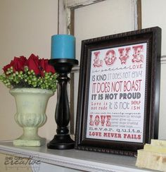 Corinthians Love Verse Print by The Girl Creative, featured @printabledecor1
