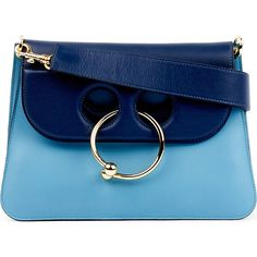 Jw Anderson Pierce medium leather shoulder bag (78,975 INR) ❤ liked on Polyvore featuring bags, handbags, shoulder bags, accessories, blue leather shoulder bag, leather flap handbags, genuine leather handbags, leather handbags and leather shoulder handbags