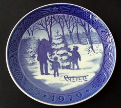 These Blue Danish CHRISTMAS PLATES are and have been collected for ...