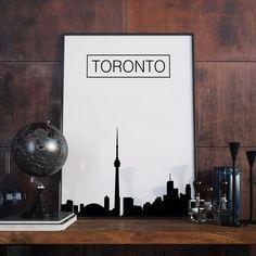 Toronto, Skyline Kunstdruck, City Skyline, Poster, Bürodekor, Wanddekor, Kunstdruck, Artprint, Druckbare Kunst, Digitaler Download, Geschenk von FineArtHunter auf Etsy