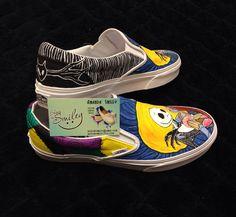 Tim Burton's Nightmare Before Christmas Hand by ShoesBySmiley#disney #nightmarebeforechristmas #timburton #jackskellington #Sally #JackandSally #customshoes