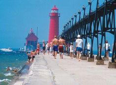 Lighthouse  grand Haven MIch