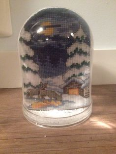 Snow globe with winter pattern