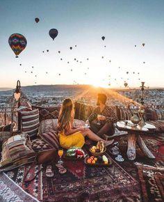 hot balloon tour- Cappadocia- best vacations for couples travel destinations/. - Bucket List Ideas - hot balloon tour- Cappadocia- best vacations for couples travel destinations/… - Vacation Destinations Couples, Best Vacations For Couples, Couples Vacation, Best Vacation Spots, Romantic Destinations, Dream Vacations, Turkey Destinations, Top Vacations, Vacation Ideas