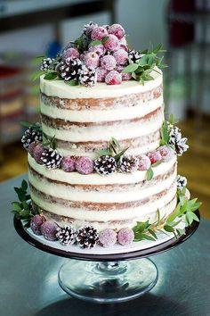 Special Naked Cake wedding cake with fruits, small pine cones and . - Wedding cakes - # fruits cake cake Informations About Special Naked Cake Hochzeitstorte mit Früchten, kl Fruit Wedding Cake, Floral Wedding Cakes, Wedding Cake Rustic, Elegant Wedding Cakes, Floral Cake, Beautiful Wedding Cakes, Wedding Cake Toppers, Beautiful Cakes, Trendy Wedding