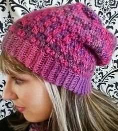 I finally got around to writing up my Double Drop Slouchy hat pattern that matches the cowl pattern I posted earlier! This slouchy hat uses a drop stitch pattern (where you work stitches into a pre...