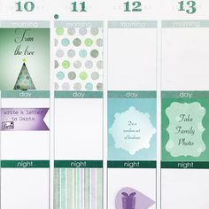"Planner/Calendar Stickers- Hello December! by VanDenBergeDesign • 25 stickers custom cut to fit into the weekly squares of your Erin Condren Life Planner, (1.5"" x 1"")  Inspired by the month of December."