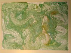Monotipos. Óleo sobre papel, siguiendo armonías cromáticas. A6.