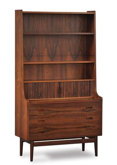 Mid Century Modern :1 Secretary-sektion from a complete 3 sektion wall unit designed by Arkitekt Børge Mogensen and produced by Bornholms Møbelfabrik.