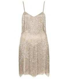 Kate Moss for Topshop - BEADED FRINGE TIERED DRESS