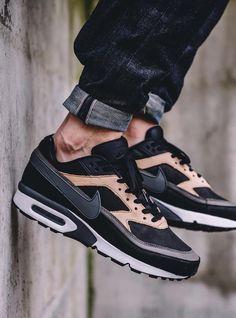 Nike Air Max BM Premium Black Dark Gray Vachetta Tan Source by armessier Ibiza Outfits, Urban Style Outfits, Men's Fashion, High Fashion, Street Outfit, Street Wear, Streetwear Fashion, Streetwear Clothing, Streetwear Shop