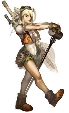 Dwarf Female & Hammer