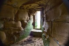 The Abandoned Stone Ruins of the 14th Century Harewood Castle, Leeds, West Yorkshire.