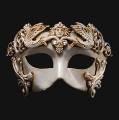 Masque de Venise colombine Barocco cavalli bronze authentique papier maché 198