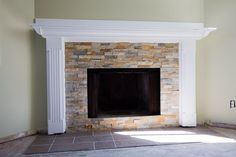 How we DIY-ed our stone fireplace surround