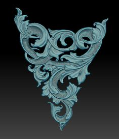 Zbrush, Jewelry Art, Jewelry Design, Filigree Tattoo, Gothic Pattern, Digital Sculpting, Wax Carving, Scroll Pattern, Metal Engraving