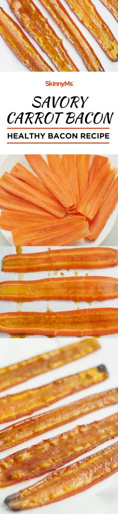 Frugal Food Items - How To Prepare Dinner And Luxuriate In Delightful Meals Without Having Shelling Out A Fortune This Savory Carrot Bacon Tastes Like Real Bacon Bacon Recipes, Vegetable Recipes, Low Carb Recipes, Vegetarian Recipes, Snack Recipes, Cooking Recipes, Carrot Recipes, Healthy Recipes, Empanadas