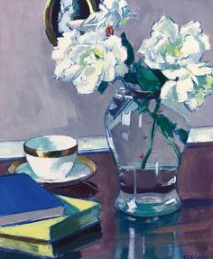 Roses Painting by Francis Campbell Boileau Cadell
