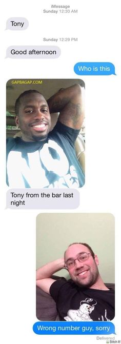Hilarious Wrong Number Text
