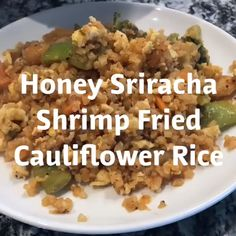 You'll love this simple shrimp fried cauliflower rice recipe that transforms fro. - You'll love this simple shrimp fried cauliflower rice recipe that transforms frozen ingredients into a perfectly sweet and spicy healthy dish. Healthy Dishes, Healthy Cooking, Healthy Dinner Recipes, Vegetarian Recipes, Healthy Eating, Cooking Recipes, Vegetarian Dish, Food Dishes, Crockpot Recipes