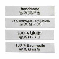 Bedruckte Textiletiketten selbst gestalten: Etiketten aus Satin individuell und günstig, ab 25 Stück, schnelle Lieferung. Satinetiketten zum Einnähen für Ihre selbstgemachte Kleidung. Design Web, Satin, Handmade, Diy Clothes, Textiles, Love, Breien, Hand Made, Elastic Satin