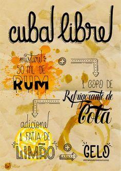 ilustração drink cuba libre