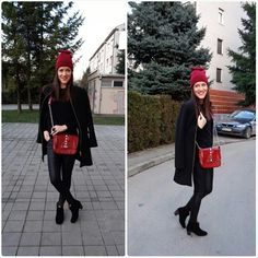 #miss_s_design #black #outfit #handmade #valentino #inspired #red #snakeprint #bag #streetstyle #streetchic #fashion