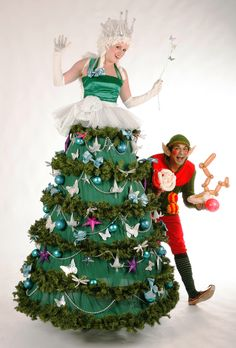 Christmas Tree Fairy Stilts  from www.FlamingFun.com:  Call 07788732552 for more info.
