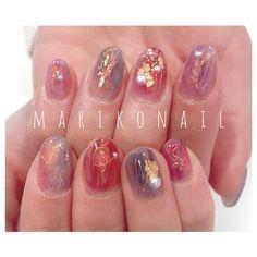 """mariko mori on Instagram: """"#marikonail #Instagramをみて #みんな違ってみんないいネイル #トレンドネイル #パラジェル #冬ネイル #ニュアンスネイル #ネイル #名古屋ネイル #nail #nails #ネイル #ネイルアート #ジェルネイル #ネイルサロン…"""" Kawaii Nail Art, Japan Nail, Les Nails, Korean Nails, Nails First, Jelly Nails, Nail Time, Nail Arts, Swag Nails"""
