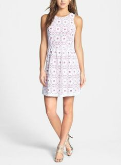 For spring and summer at work - Kensie fit and flare lace dress.