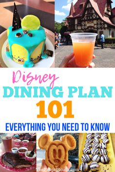 Everything you need to know about the Disney Dining Plan including cost, what is included, and if it is worth getting the dining plan or not. Walt Disney World Vacations, Disney Parks, Be Our Guest Disney, Disney Dining Tips, Disney Time, Disney Food, Disney Ideas, Disney Fanatic, Disney World Planning